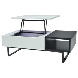 315a5f1aff0209 TABLE BASSE THEO Table basse relevable style contemporain - Bl ...