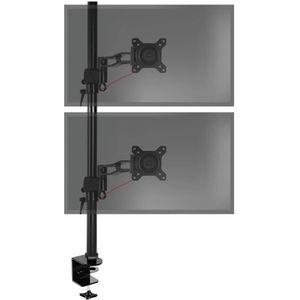 FIXATION ÉCRAN  Duronic DM35V2X2 Support vertical pour deux écrans