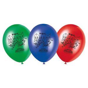 BALLON DÉCORATIF  Sachet de 8 Ballon Imprime Pyjamasques - PJ Masks