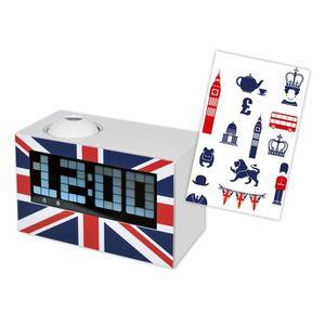 RÉVEIL ENFANT TECKNOFUN Radio Réveil avec Projecteur UK