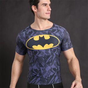 Batman 3D imprimé T-shirts Homme à compression à manches courtes T-shirt  Cartoon Anime Respirant Fitness c75af209070