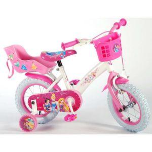 VÉLO ENFANT Vélo Enfant Fille 12 Pouces Princesse Disney Frein