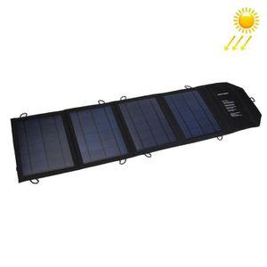 CHARGEUR TÉLÉPHONE Chargeur solaire portable pliable 20W 4A - avec 2
