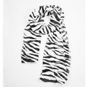 ECHARPE - FOULARD Noir-Blanc echarpe en mousseline de soie pour les 11df71ed3d4