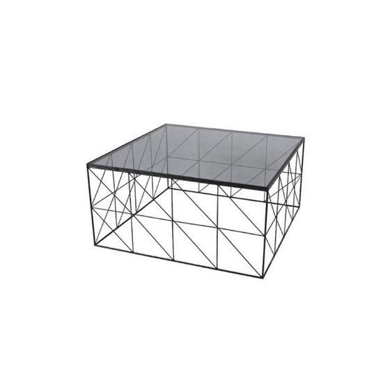Table Argent Verre Fumé Design Basse Collection Novatrend Electrochic eodrWCBx