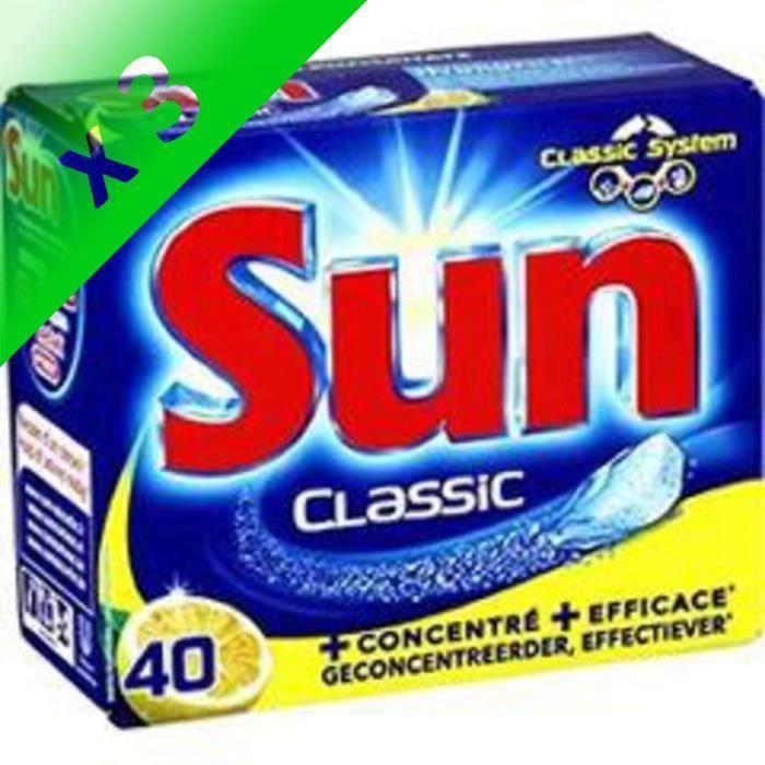 SUN Classic 40 tablettes citron (Lot de 3)
