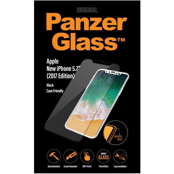Panzer Glass Verre Trempé Case friendly - Pour iPhone 8 - NoirFILM DE PROTECTION TELEPHONE - VERRE DE PROTECTION TELEPHONE