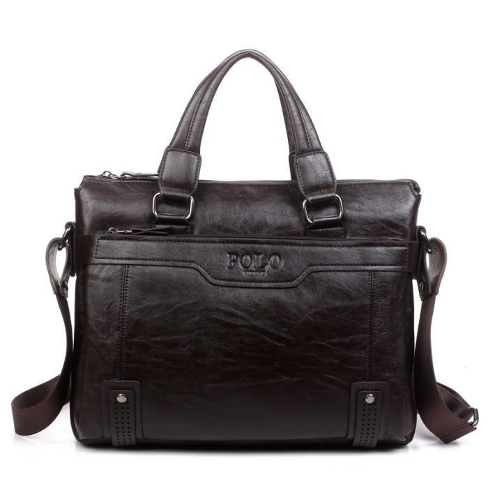 sac à main Sacs de Crossbody pour hommes en cuir dépaule daffaires Porte-documents Sacs 14inch Laptop Bag Hommes-290