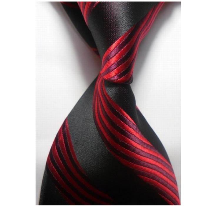 8af15c01a94b0 Cravate rouge et noir entreprise costume professionnels hommes ...