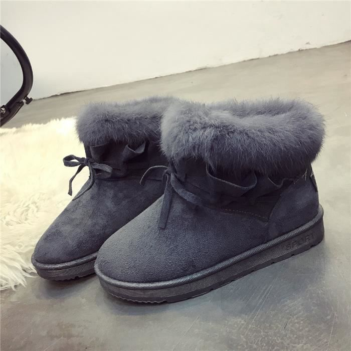 CUSSELEN Bottine De Neige Haut Qualité Chaussure Garde Au Chaud résistantes à l'usure Adulte