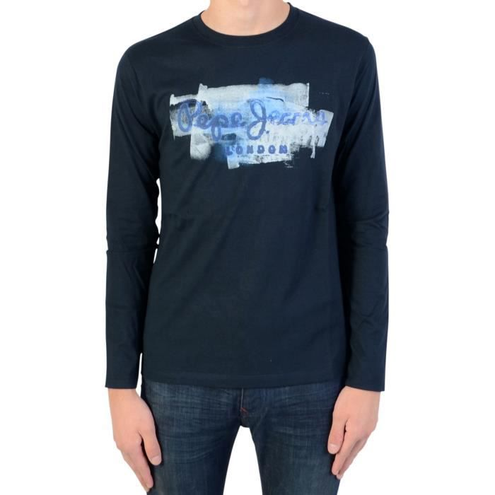 Tee shirt pepe jeans manches longues - Achat   Vente pas cher 385afb130865