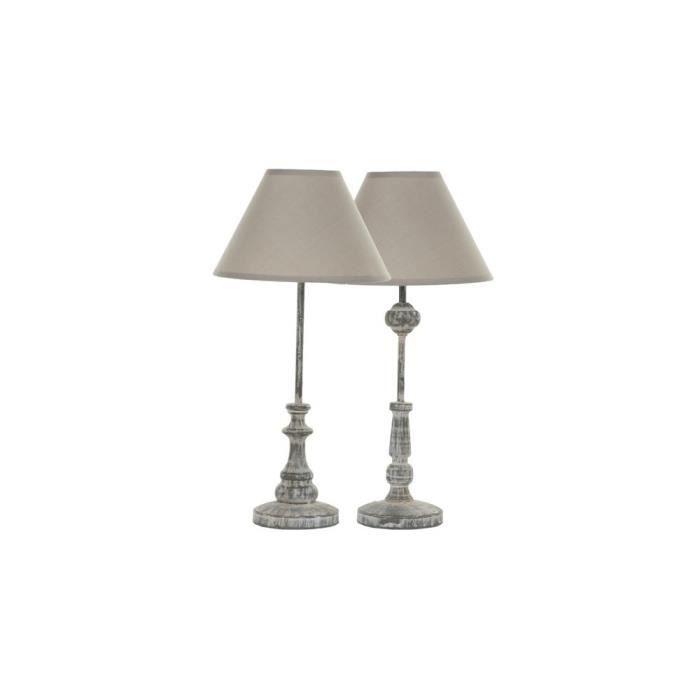 simla lampe de chevet grise simla gris achat. Black Bedroom Furniture Sets. Home Design Ideas
