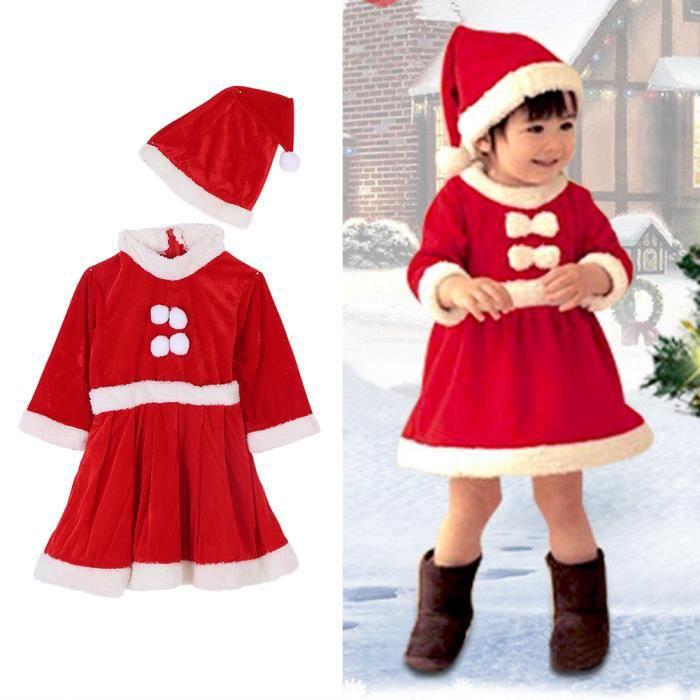 c3854f9e59daf Costume de Noël pour filles Spectacle de Noël Vêtements de père Noël(120)