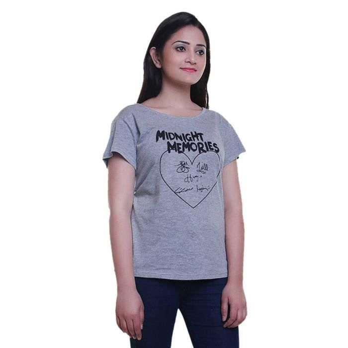 Cotton Taille Sleeve Z6yj1 White amp; Women's Printed Long Grey 32 Combo For T Neck Round Shirts Half 2 qUnwqaIpYA