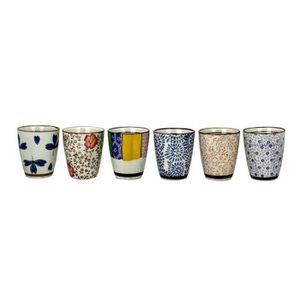 SERVICE À THÉ - CAFÉ ARD'TIME Lot de 6 tasses à thé en céramique Chiba