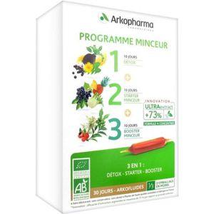 COMPLÉMENT MINCEUR Arkofluide Programme Minceur 3 en 1 Bio 30 Jours