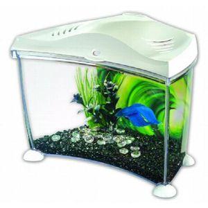 AQUARIUM Betta aquarium en plastique graphite, 7 litres, Wh
