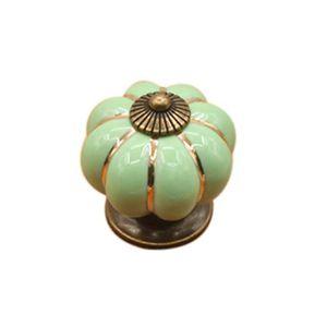 POIGNÉE - BOUTON MEUBLE Vintage Seven couleur citrouilles poignée en céram