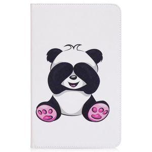 HOUSSE - ÉTUI Etui iPad Air2.portefeuille cuir blanc panda ours