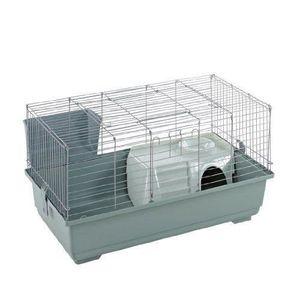 CAGE Little Friends Cage à lapin Argenté 80 cm