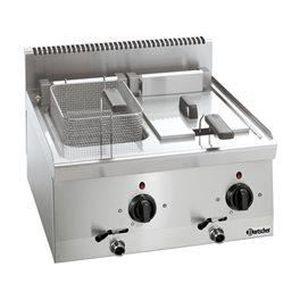 FRITEUSE ELECTRIQUE Friteuse électrique à 2 cuves de 8 litres Série...
