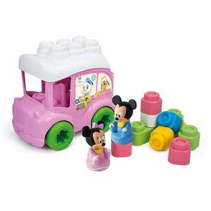ASSEMBLAGE CONSTRUCTION CLEMENTONI Clemmy - Le Bus de Minnie - Cubes soupl