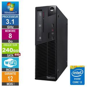 UNITÉ CENTRALE  PC Lenovo ThinkCentre M81 Core i3-2100 3.10GHz 8Go