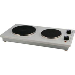PLAQUE ÉLECTRIQUE  Table de cuisson 2 feux 2500 watts émail blanc