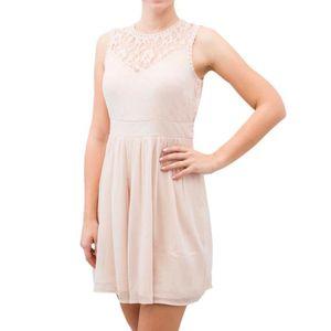 6d56328f0d73 Achat Robe Robes Mini Vero Rose Moda Vente Vmaya Femme Pq0Etgw