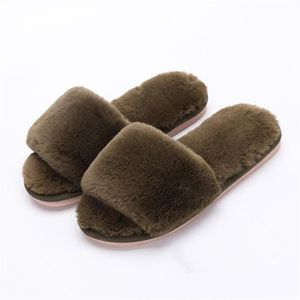 CHAUSSON - PANTOUFLE Chaussons Femme Fluffy Peluche 2018 Hiver Chausson