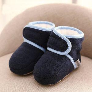 Gris Casual Bottes de neige bottine Bébé enfant d'hiver-printemps-automne Chaussure de Bébé Fille et Garçon premier pas en coton cd1zcJa
