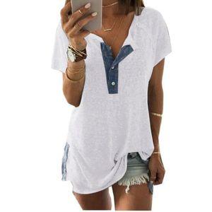 T-SHIRT Minetom Femmes T Shirt Été Hauts Manches Courtes T