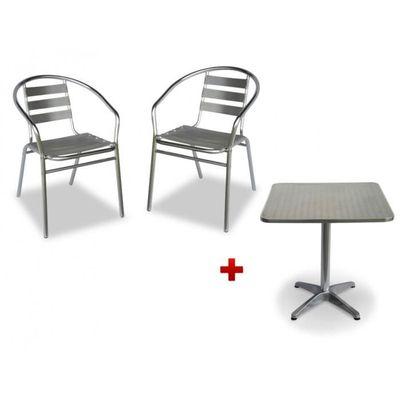 Salle à manger de jardin en aluminium MONTMARTRE: une petite table ...