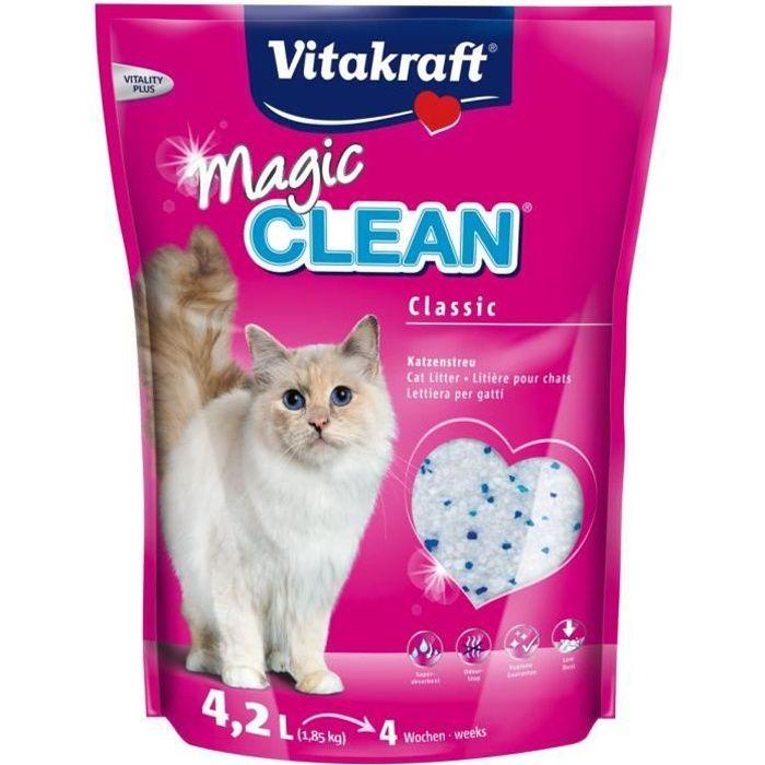 Magic clean litière 4 semaines - Pour chat - 4,2L