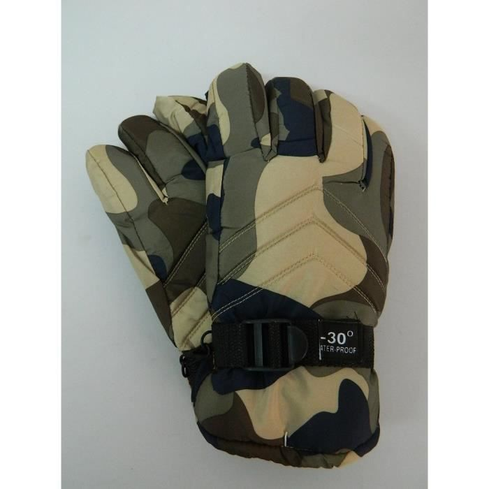 57f47f7857b84 Gants grand froid camouflage vert homme pêche chasse montagne - Prix ...
