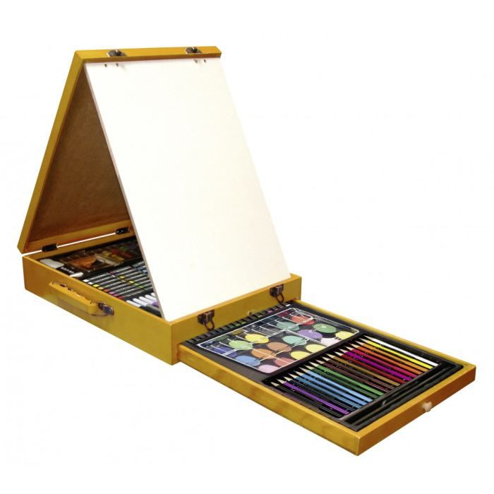 mallette dessin bois avec chevalet achat vente kit de dessin mallette dessin bois avec c. Black Bedroom Furniture Sets. Home Design Ideas