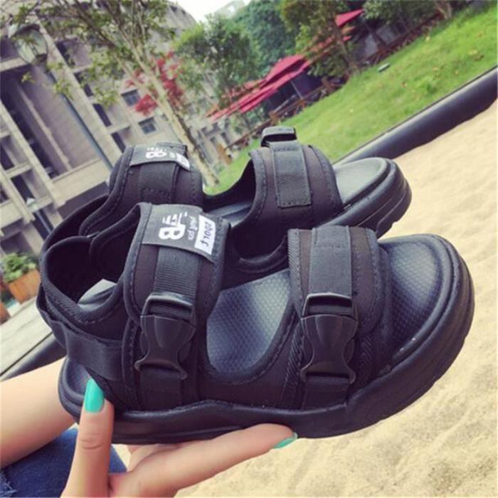 sandale plage Classique chaussure homme marque de luxe Antidérapant Hommes tongs sandales pantoufles d'été Gra dssx141noir41 ASajYm