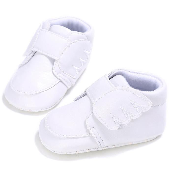 BOTTE Fille Bébé Chaussures Type de coeur Chaussures à semelle souple antidérapante Crèche Chaussures@BlancHM g0E2u3RT