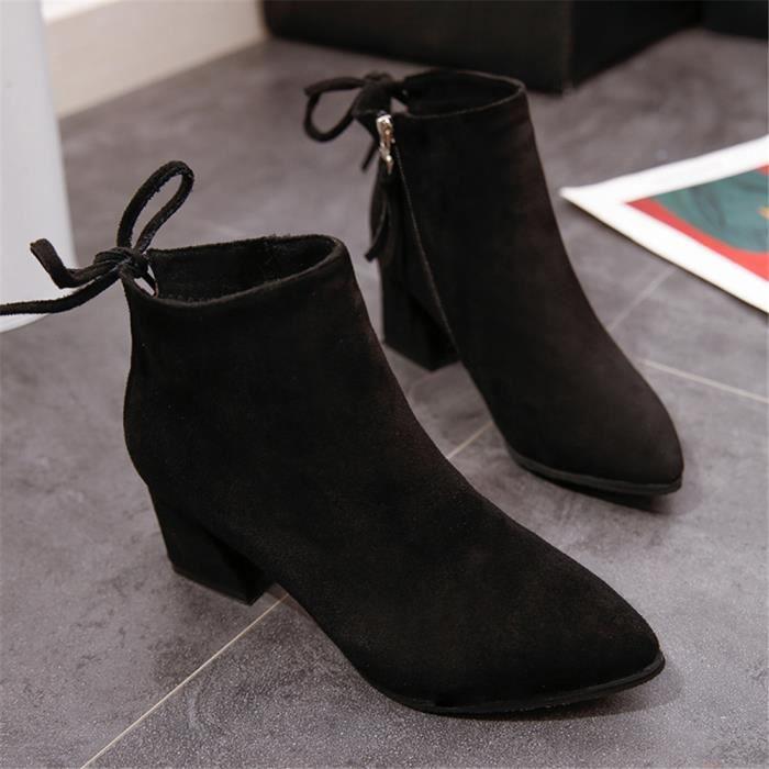 noir Classique Respirant Femmes gris Qualité Nouvelle Haut Marron Bottines Chaussures Arrivee 6qvYqwx