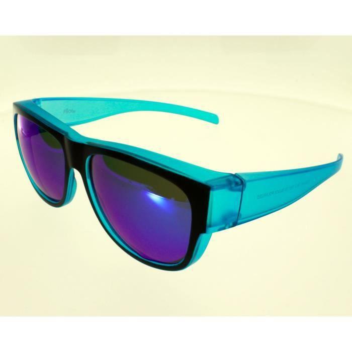 1cae5d03e70aef FIT OVER, sur-lunettes Bleu , VZ0024 K, polarisées avec verres bleutés  Adulte Protection 100% UV 400 Indice 3