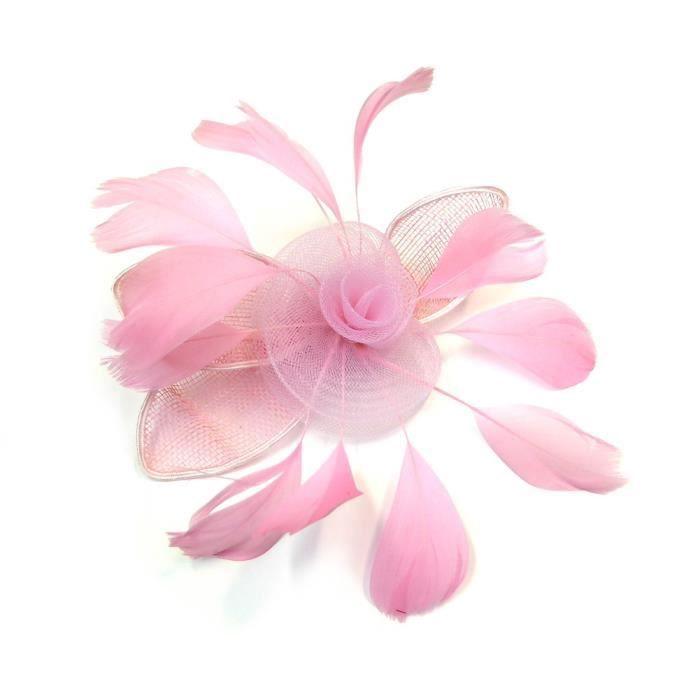 Broche Fleur Pince Cheveux Mariage Diametre 17cm Rose Rc004805