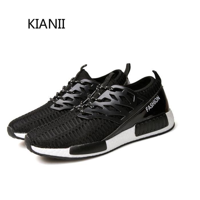 Baskets Homme Femme Chaussures respirantes KIANII-Noir