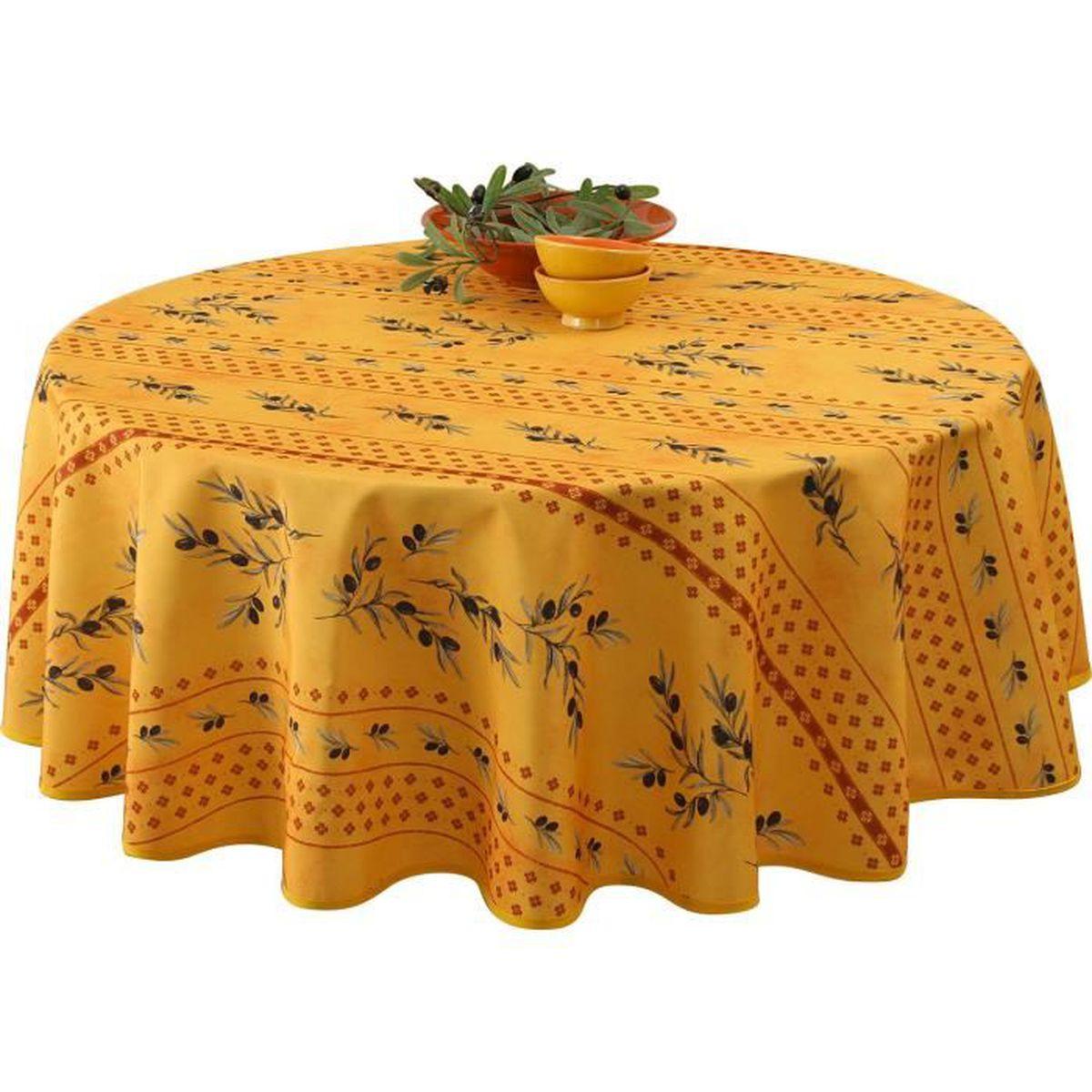 nappe jaune achat vente nappe jaune pas cher soldes. Black Bedroom Furniture Sets. Home Design Ideas