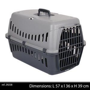 GIPSY Panier de transport L - 57x36x39 cm - Gris - Pour chien