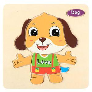 PUZZLE Puzzle en bois d'animal de dessin animé  chien # c