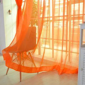 RIDEAU mosakog® 2 PCS Pure Color Tulle Door Window Curtai