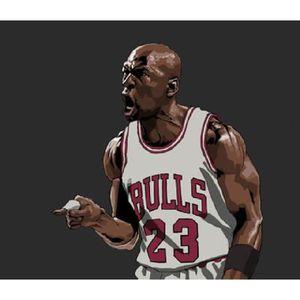 AFFICHE - POSTER Poster dessiné Michael Jordan (Dimensions : 33 x 4