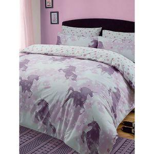 house de couette licorne achat vente pas cher. Black Bedroom Furniture Sets. Home Design Ideas