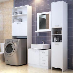 ARMOIRE DE TOILETTE Set de meubles de salle de bain Armoire haute Colo