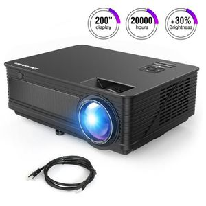 Vidéoprojecteur LED Projecteur Excelvan M5 +30% Lumens 2018 mis à